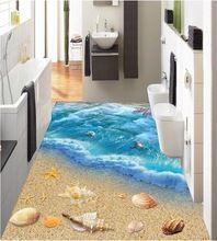 3 d PVC vloeren custom 3d badkamer vloeren muur papier 3 d world ocean vloertegel muurschilderingen foto behang voor muren 3d(China)