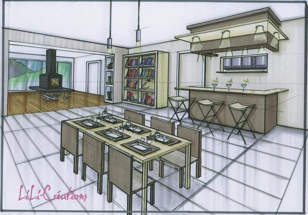Le blog de elise fossoux d coration architecture d 39 int rieur dessin design am nagement - Dessin d interieur de maison ...