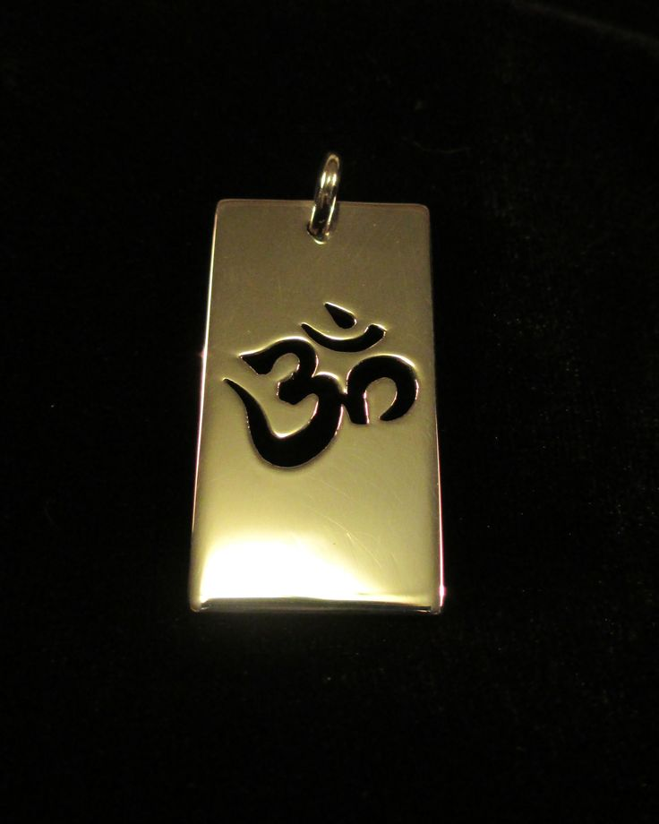 Handcrafted Ohm pendant by Chasing Destiny Silver