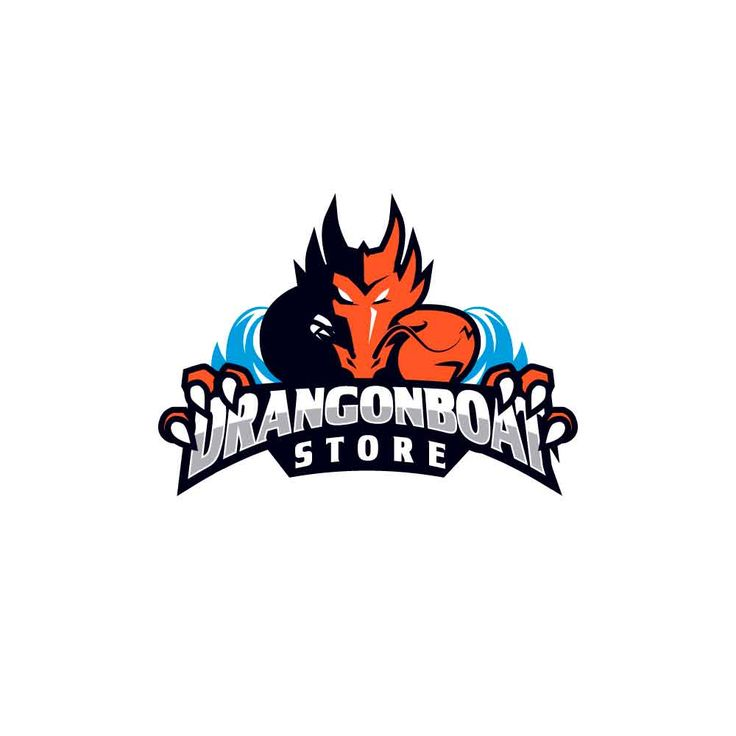 Logotipo desarrollado para tienda de artículos deportivos de dragonboat.