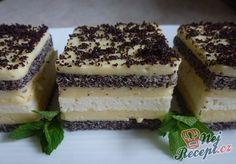 Fantastické kostky s mákem a bílou čokoládou. Lahodná chuť a rychlá příprava.