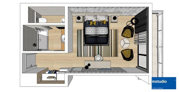 Ristrutturazione Hotel vista mare. Per l'arredo delle camere sono stati scelti colori caldi e accenti color senape. L'area scrittoio e la zona letto sono identificate da boiserie in legno decorato, mentre il guardaroba è stato realizzato con una parete attrezzata ad elementi aperti.