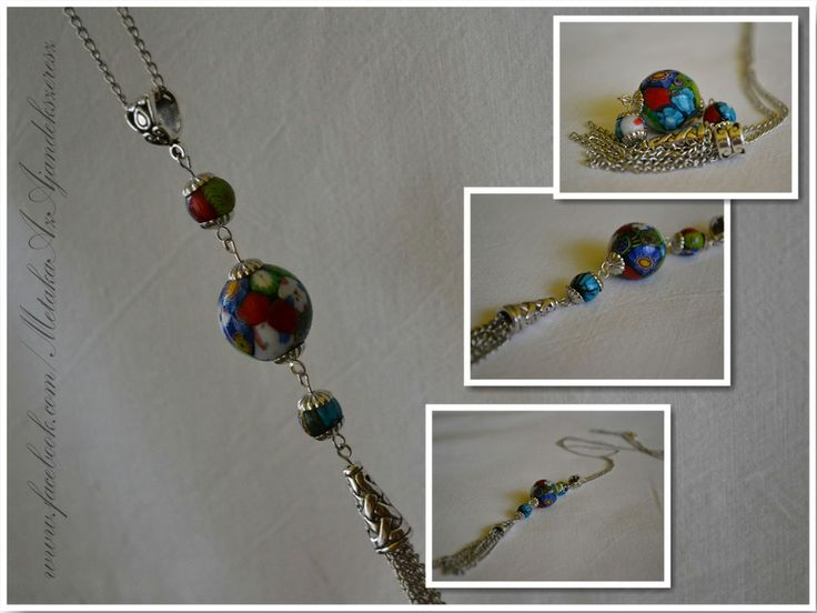 Vintage glassbeads in a new form. :-)