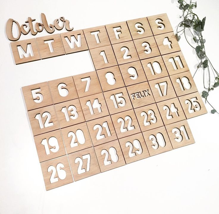 $95+GST - Use year after year!Each calendar is cut from 3mm light weight wood. This reusable magnetic calendar is perfect for your fridge or whiteboard. Each square piece measures 5cm. There ar...