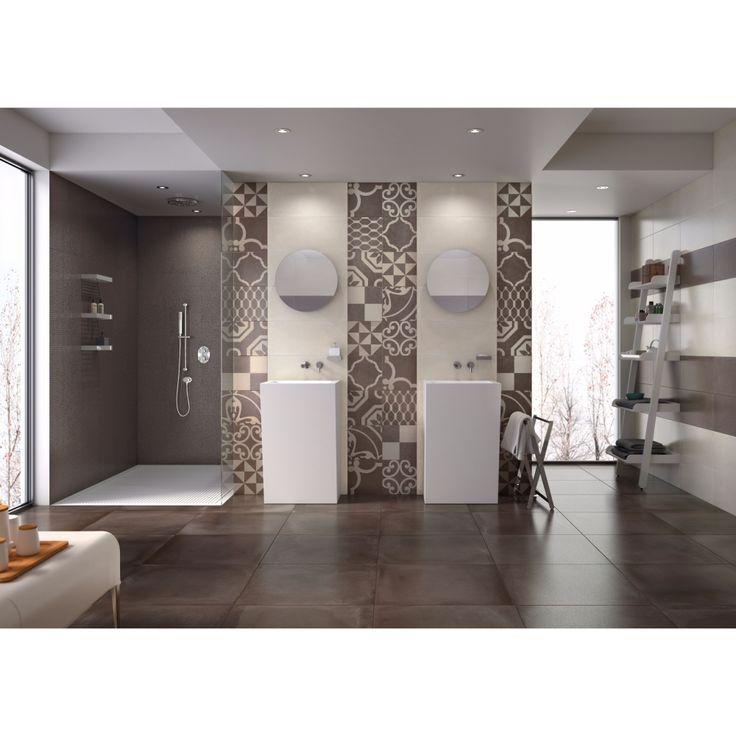 Carrelage sol salle de bain 60x60 Rust Naturel Rectifié, collection - faux plafond salle de bain