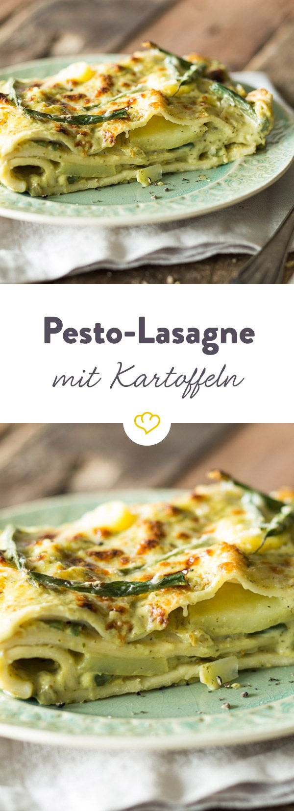Diese Lasagne ist eine vegetarische Version des Italien-Klassikers. Selbstgemachtes Pesto und frische Bohnen verleihen dem Ganzen eine angenehme Frische
