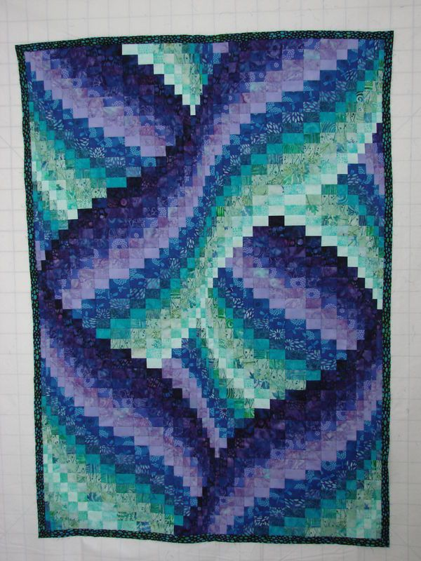 Quilted bargello--step by step tutorial