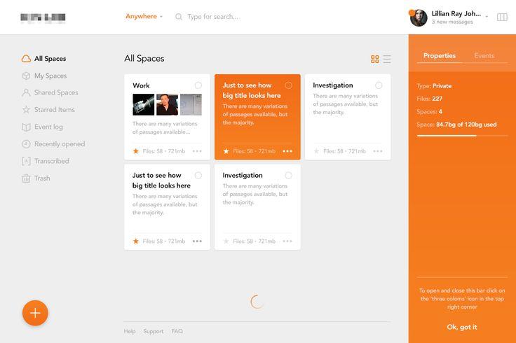 Secret Project Dashboard – User interface by Eleken