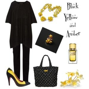 Black & Yellow & Amber