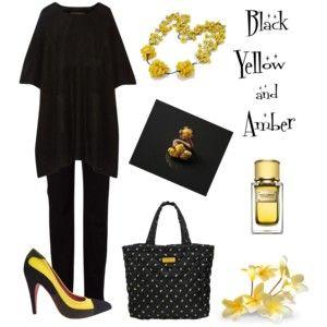 Black & Yellow & Amber