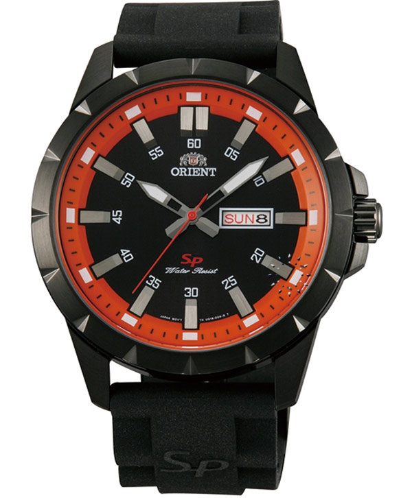 ORIENT Sport Black Rubber Strap  Τιμή: 103€  http://www.oroloi.gr/product_info.php?products_id=32046