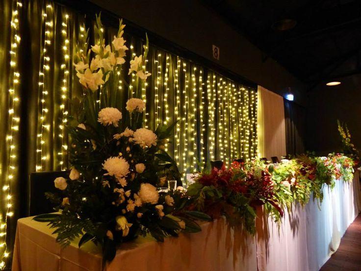 Bright and bold bridal backdrops.