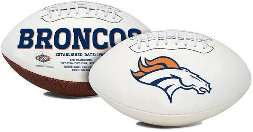 Denver Broncos Football Full Size Embroidered Signature Series