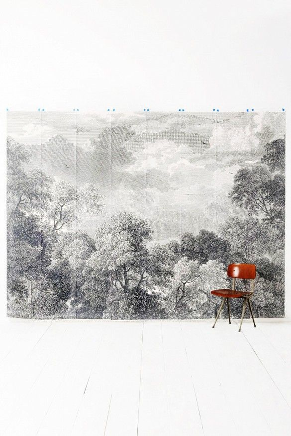 The best places to buy temporary wallpaper online murals for Anthropologie etched arcadia mural