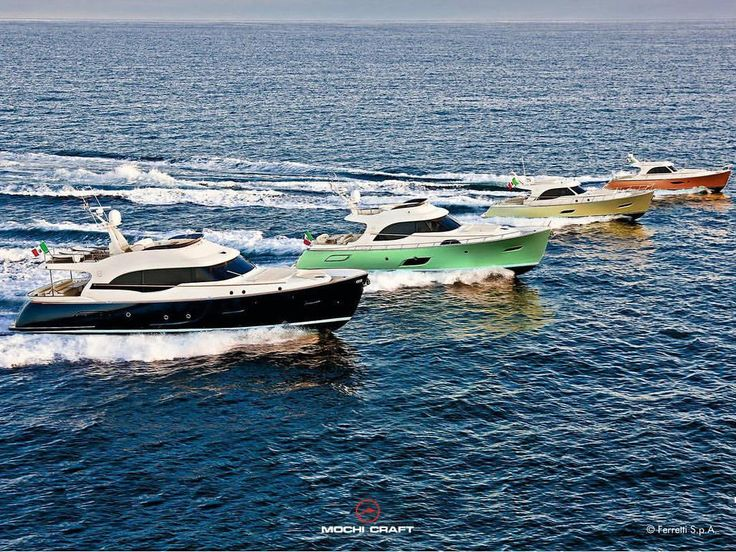 "1,297 Likes, 11 Comments - Ferretti Group (@ferrettigroup) on Instagram: ""The Mochi Craft fleet of ""Italian-Style Lobster Boats"""""