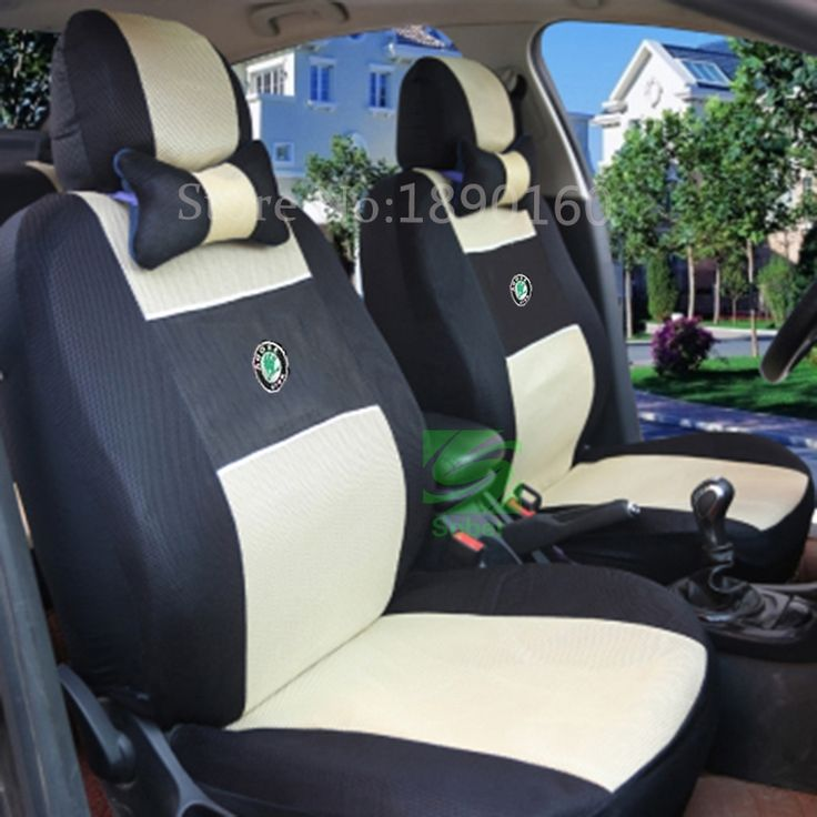 44.54$  Buy now - http://aliljz.worldwells.pw/go.php?t=32443663851 - Universal car seat covers for Skoda Octavia RS Fabia Superb Rapid Yeti Spaceback GreenLine Joyste Jeti accessories car sticker 44.54$