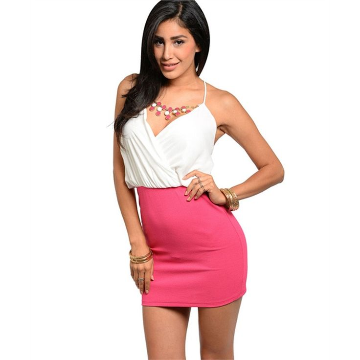 Two-tone short dress