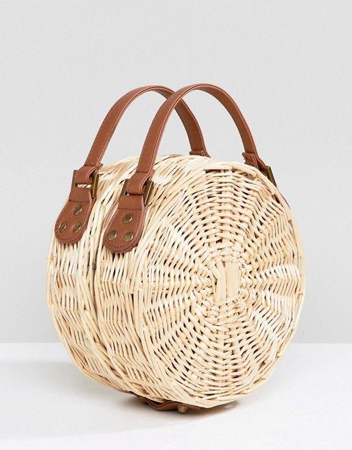 8ae0be4221a South Beach Round Straw Cross Body Bag | fashion is my profession ...