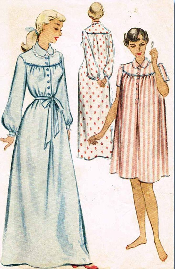 """McCall's Pattern 8339 Misses' Nightgown Pattern Short and Long Styles Dated 1950 Complete Nice Condition 11 of 11 Pieces Counted. Verified. Guaranteed Nice Condition Overall Size Large (38 to 40"""" Bust"""