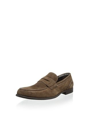 50% OFF Dino Bigioni Men's Slip-On Penny Loafer (Brown)