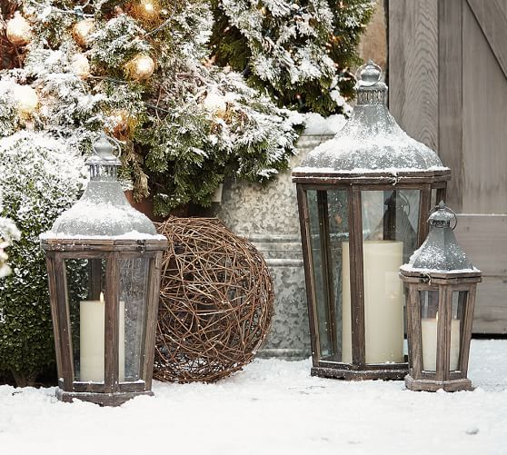 Not saying Pottery Barn but if you see Something similar...Park Hill Lantern   Pottery Barn