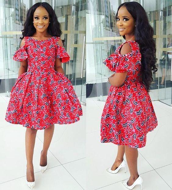 Short Ankara Gowns : Latest Fashion Styles for Cute Ladies - DeZango Fashion Zone