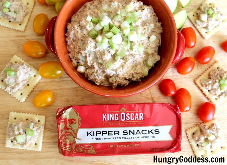 When I lived in the UK, if someone said kippers, I thought breakfast. Now that I am living in Florida, if someone says smoked fish (kippers are split and smoked herring), I think DIP. My tasty challenge from King Oscar for this go-around was their delectable, smoky kippers and I couldn't do just one recipe. My