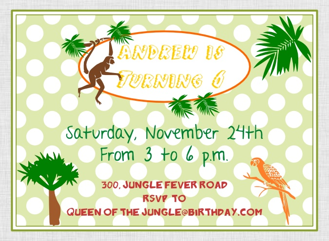 Printable Jungle Party Package at our Etsy shop http://www.etsy.com/shop/BistrotChic