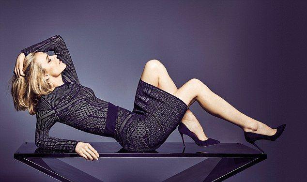 Eva Herzigova wears Jumper, £45, and Skirt, £45, both Star by Julien Macdonald at Debenhams; Shoes, £35, Faith at Debenhams
