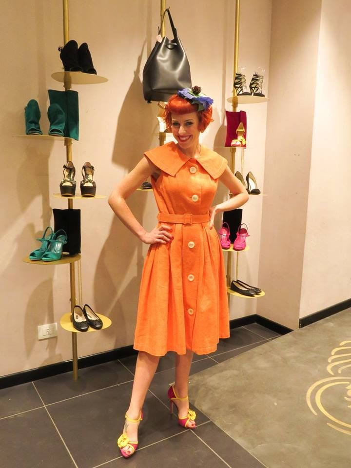 La bellissima LINA Powder con indosso un cappello fiorito Sogni d'arte by adalgisa. (Foto da Il Magico Mondo Di Lina Powder) #fashion #cute #beauty #style