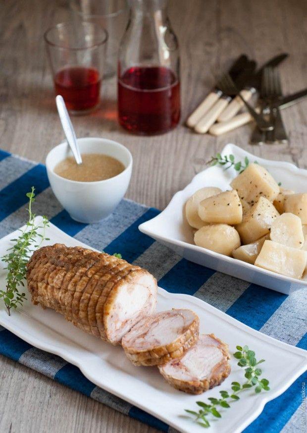 Ρολό Κοτόπουλο με Πατάτες στο Slow Cooker - Slow Cooker Chicken Roll with Potatoes (in Greek)   The Foodie Corner www.thefoodiecorner.gr