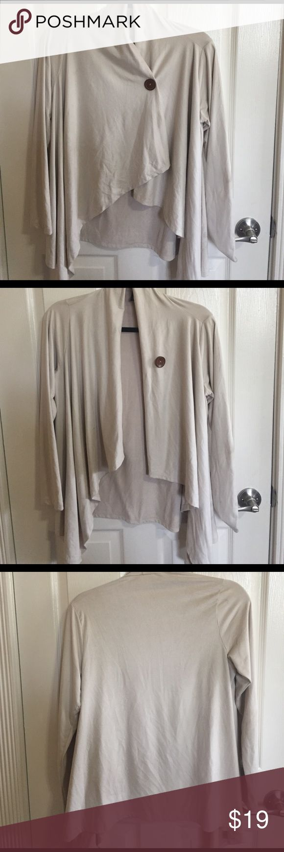 🆕LISTING! Faux suede nude cardigan Sheer black waterfall cardigan. Some pilling inside. Soft exterior material! Sweaters