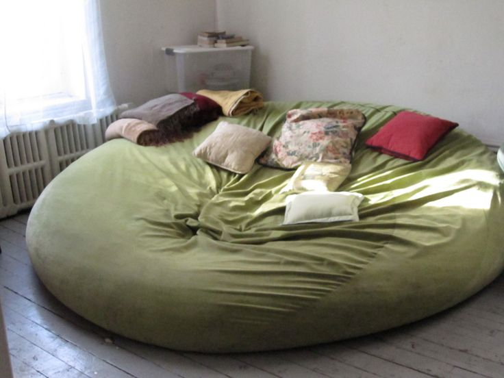 Funny Bean Bag Chairs | Biggest bean bag chair bed I've ever seen in my life.  I want this!!!!!!