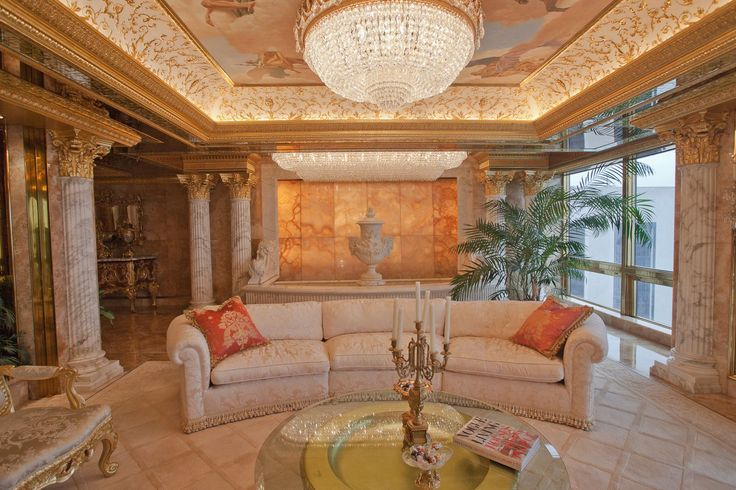 Peek Inside Melania Trump's World (And Penthouse!) #refinery29  http://www.refinery29.com/melania-trump-interview-pictures#slide-14  Yes, that is a fountain in the back of their sitting room. ...