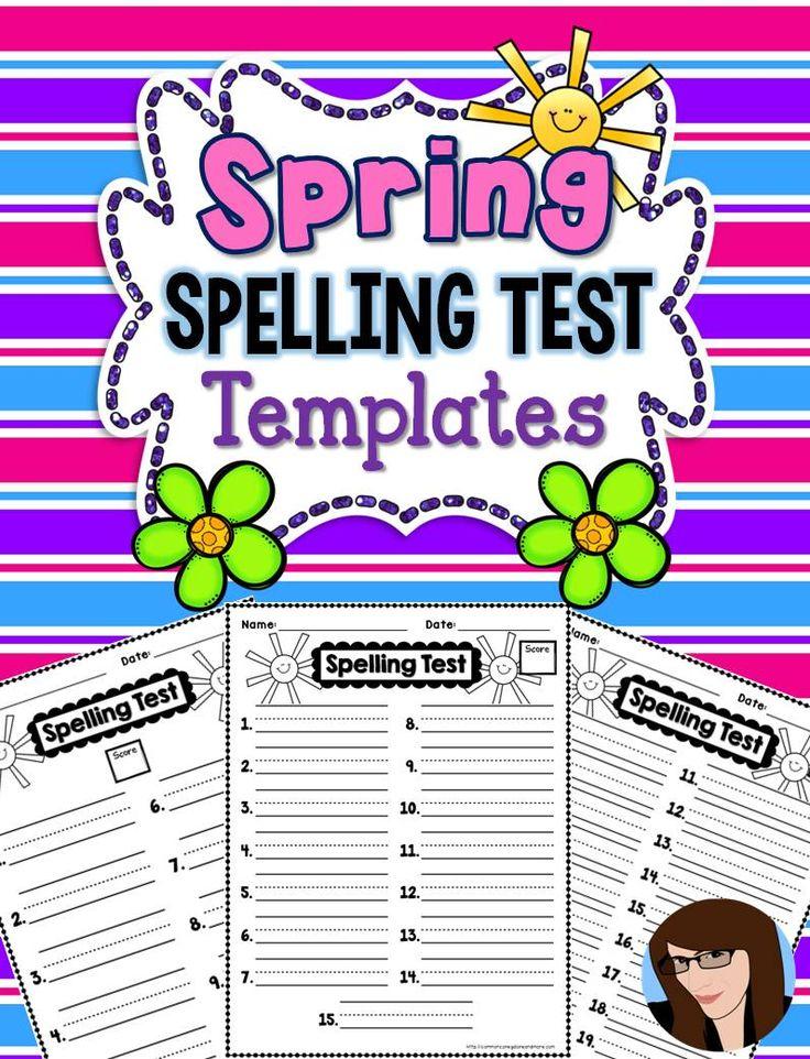 spelling test template 25 words pdf