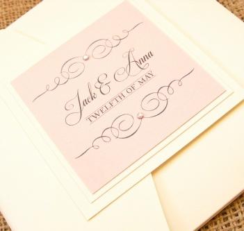 Athena Handmade Wedding Invitation