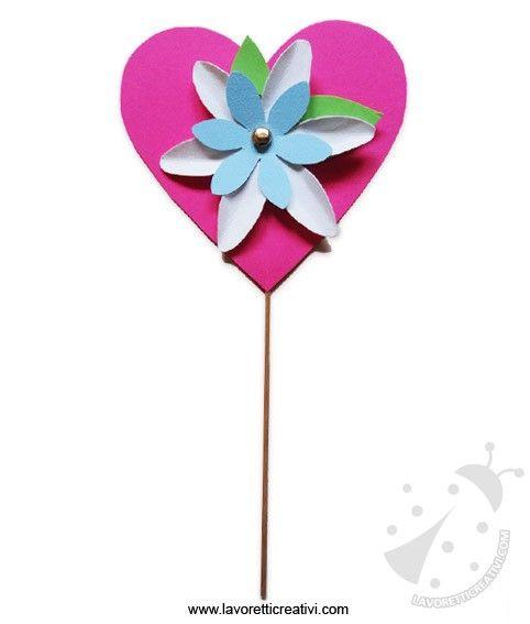 Festa della mamma – Lavoretto cuore con fiore