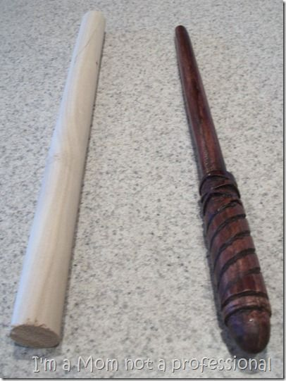 turn dowels into HP wands with a DIY wood carving kit - LOVE!
