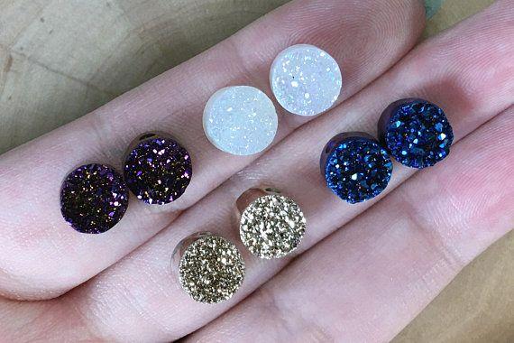 Druzy Beads Agate Druzy Beads Titanium Druzy Natural Stone