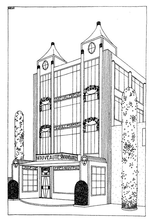Stunning Architectural Drawings By Robert Mallet Stevens 7