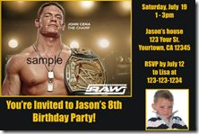 WWE Wrestling Birthday Party Invitations, Design online and pickup from your local Wal-Mart, Walgreens, or CVS