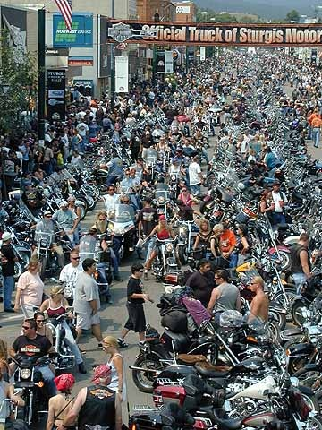 Sturgis, Baby! Takes 2 hours to make it thru town with a short cut!