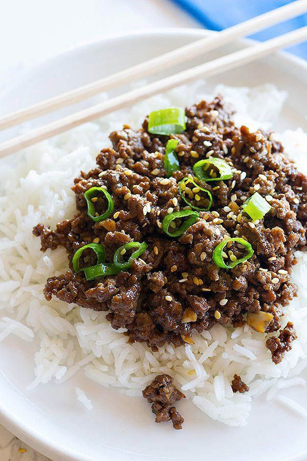 30 Minute Korean Ground Beef And Rice Bowls