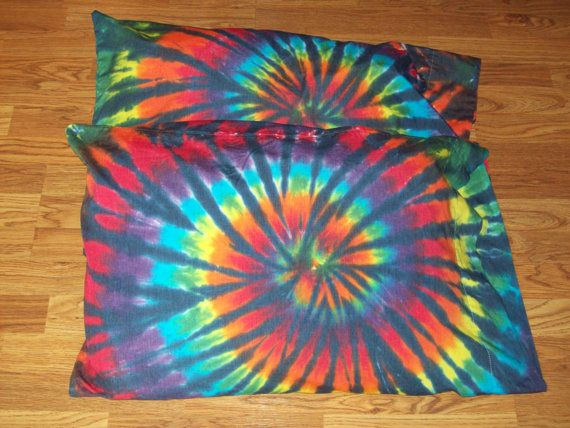Tie Dye Pillow Cases Set of 2  tie dye by EJsGroovyTuesdays, $20.00