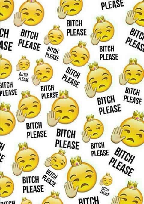 Imagem de emoji, bitch, and wallpaper