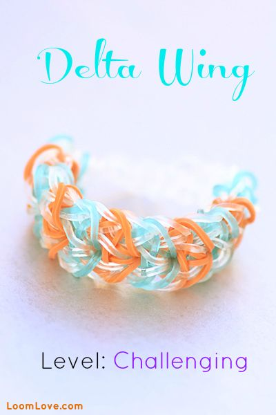 How to Make the Delta Wing Bracelet - Rainbow Loom video tutorial