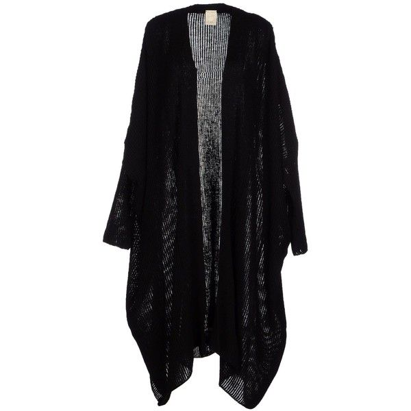 Jan - Jan Van Essche Cardigan (370 PAB) ❤ liked on Polyvore featuring tops, cardigans, jackets, outerwear, sweaters, black, black long sleeve top, black long sleeve cardigan, black top and long sleeve tops