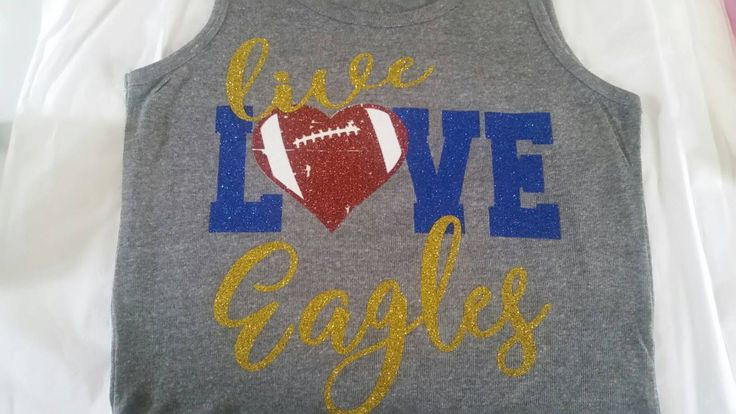 Live Love Football Bling Shirt, Football Shirt, Football Mom Shirt, Football, Bling Shirts, Spirit Shirts, Team Shirts, Football Tank