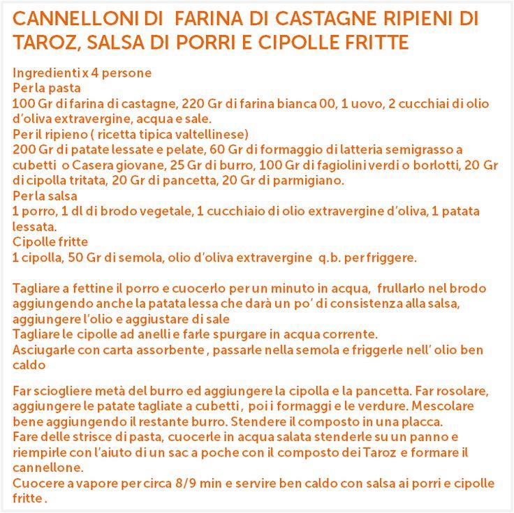 Ricetta a cura dello chef @AndreaTonola - Ristorante Lanterna Verde, Villa di Chiavenna