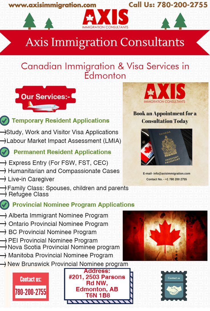 Axis Immigration Consultants will help you choose the best options for Canada Immigration. Call us now 780-200-2755 to know more about our services.